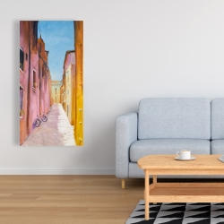 Canvas 24 x 48 - Colorful houses in the streets of collioure