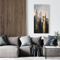 Canvas 24 x 48 - Abstract gold skyscraper