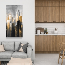 Canvas 24 x 48 - Abstract skyline