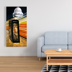 Canvas 24 x 48 - Fast london bus
