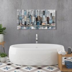 Canvas 24 x 48 - Abstract urban skyline