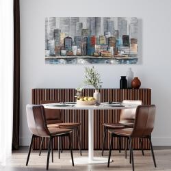 Canvas 24 x 48 - Abstract city skyline