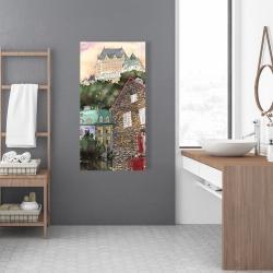 Canvas 24 x 48 - Château frontenac in the petit champlain