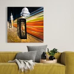 Canvas 36 x 36 - Fast london bus