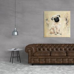 Toile 36 x 36 - Petit pug