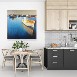 Canvas 36 x 36 - Fishing boats at the marina