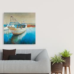 Toile 36 x 36 - Bateau de pêche