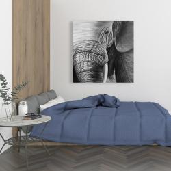 Toile 36 x 36 - éléphant