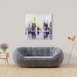 Canvas 36 x 36 - Abstract and blurry cityscape