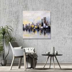 Canvas 36 x 36 - Abstract city in the morning