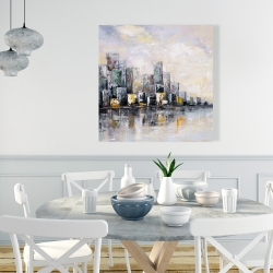 Canvas 36 x 36 - Abstract cityscape in the morning