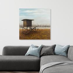 Canvas 36 x 36 - Newport beach lifeguard tower
