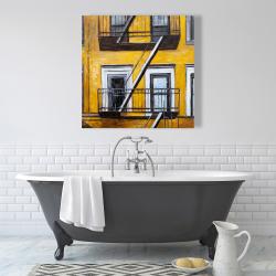 Canvas 36 x 36 - Building old fire escape