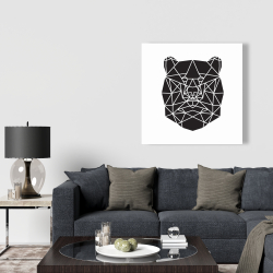 Canvas 36 x 36 - Geometric bear head