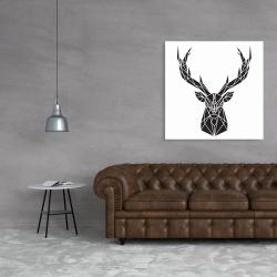 Canvas 36 x 36 - Geometric deer head