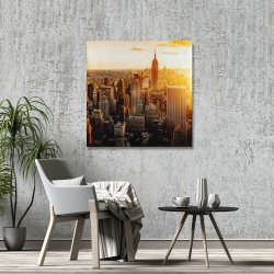 Canvas 36 x 36 - New york city at sunset
