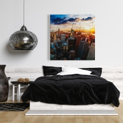 Canvas 36 x 36 - City of new york by dawn