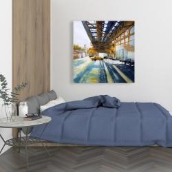 Canvas 36 x 36 - Cars under the bridge
