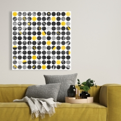 Canvas 36 x 36 - Abstract grunge circles