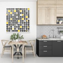 Canvas 36 x 36 - Grunge circles