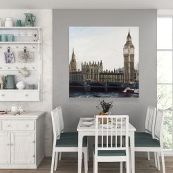 Canvas 36 x 36 - Big ben clock elizabeth tower in london