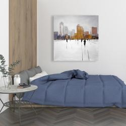 Canvas 36 x 36 - City on the horizon