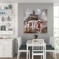 Canvas 36 x 36 - Near the eiffel tower