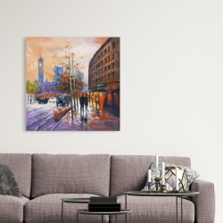 Canvas 36 x 36 - City by fall