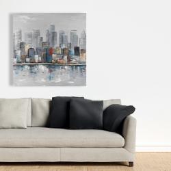 Canvas 36 x 36 - Abstract city skyline