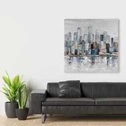 Canvas 36 x 36 - Abstract urban skyline