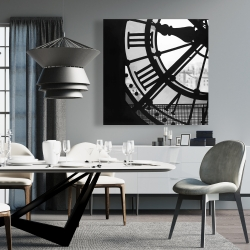 Canvas 36 x 36 - Clock at the orsay museum