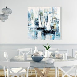Canvas 36 x 36 - Industrial style boats