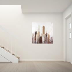 Canvas 36 x 36 - Abstract earthy tones city