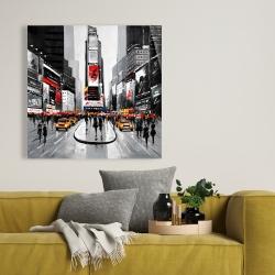 Toile 36 x 36 - Rue achalandée de la ville de new york