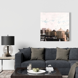 Canvas 36 x 36 - Water towers