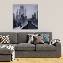 Canvas 36 x 36 - Illustrative gray city