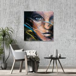 Toile 36 x 36 - Visage de femme coloré