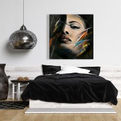 Toile 36 x 36 - Portrait abstrait de femme