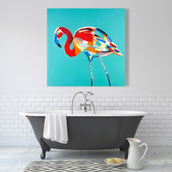 Canvas 36 x 36 - Abstract flamingo
