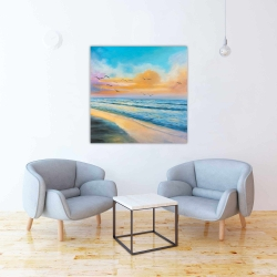 Toile 36 x 36 - Coucher de soleil tropical à couper le souffle