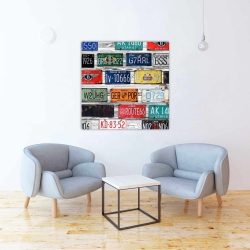 Canvas 36 x 36 - Number plates