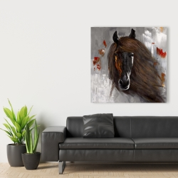 Canvas 36 x 36 - Proud brown horse