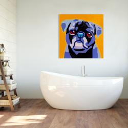Canvas 36 x 36 - Flash the pug
