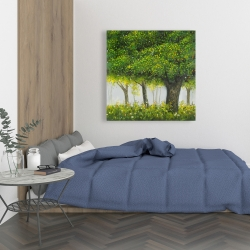 Canvas 36 x 36 - Forest by summer