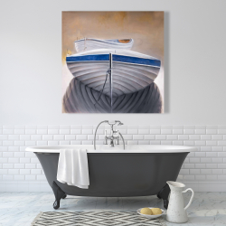 Canvas 36 x 36 - Two canoe boats