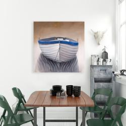 Canvas 36 x 36 - Canoe boat