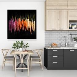 Canvas 36 x 36 - Colorful carrots