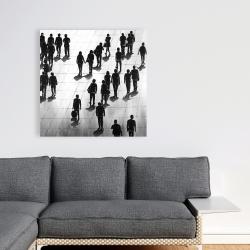 Canvas 36 x 36 - Silhouettes of people on the street