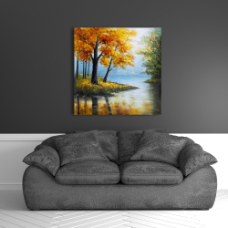 Canvas 36 x 36 - Trees by the lake