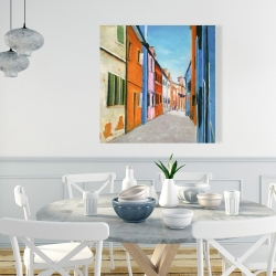 Canvas 36 x 36 - Colorful houses in italy